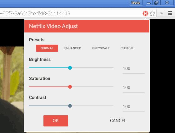 Netflix Video Adjust estensione Chrome per Netflix.