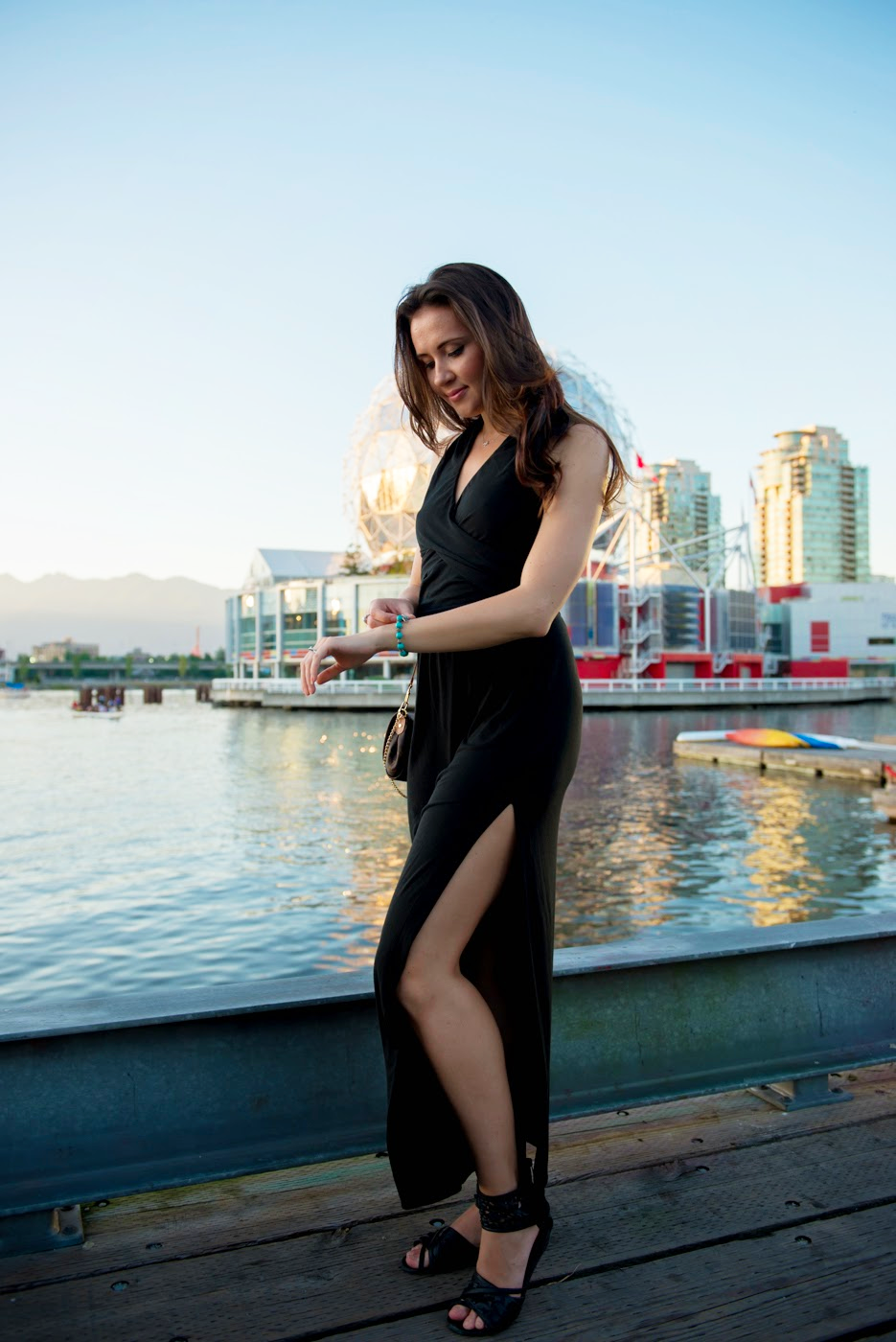 the broken stiletto, vancouver fashion, vancouver fashion blog, vancouver fashion blogger, vancouver style, canadian fashion blog, canadian fashion, canadian fashion blogger, black maxi dress, black sandals, Louis Vuitton Favorite purse