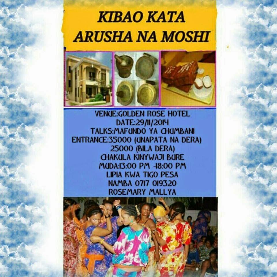 KIBAO KATA ARUSHA NA MOSHI 29/11/2014