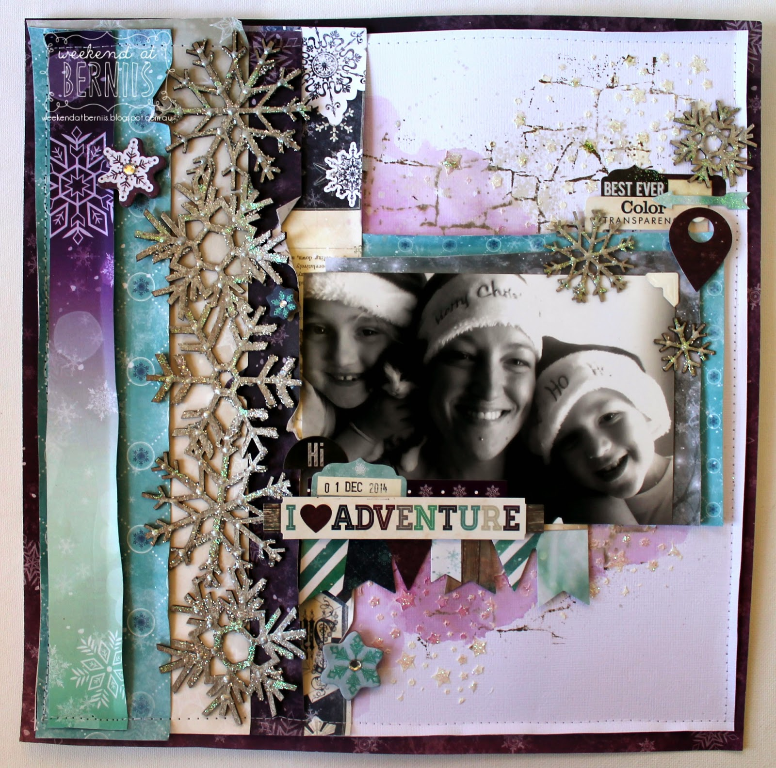 I love Adventure layout by Bernii Miller using BoBunny Altitude collection.