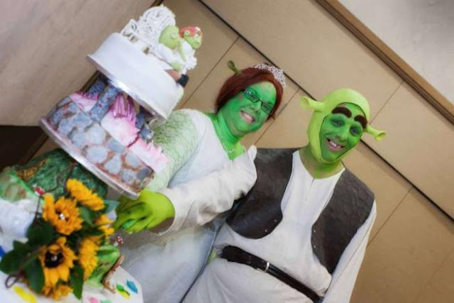 shrek fiona wedding cake torta nuziale a tema