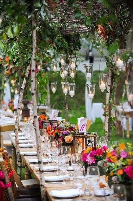 Diy spring outdoor decoration interior decorating - Garden wedding decorations pictures ...