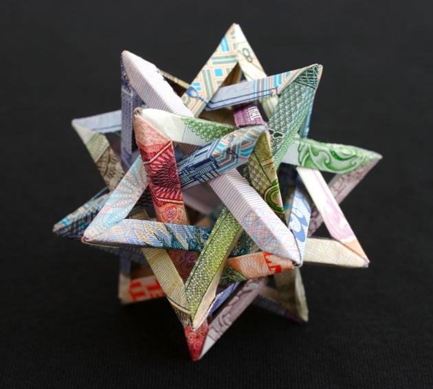Money Pieces Eye-catching Sculptures