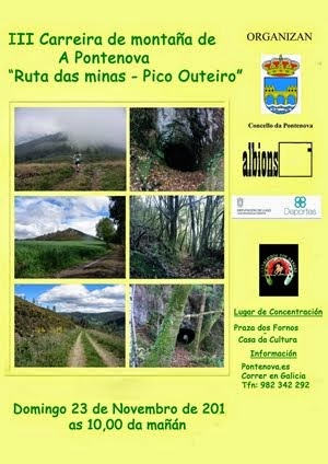 III Carreira de Montaña A Pontenova(Ruta das Minas-Pico Outeiro) 23/11/2014. Clic no Cartel.