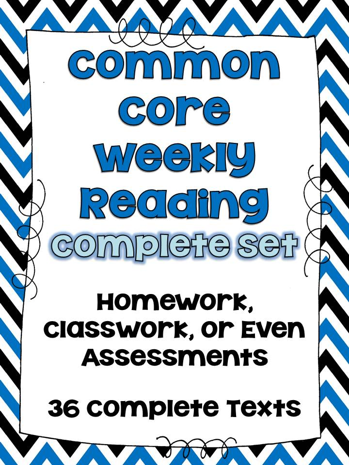http://www.teacherspayteachers.com/Product/Common-Core-Weekly-Reading-Homework-Review-Complete-Set-36-Texts-725857