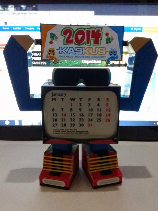 KASKUS Paper TOy 2014 Calendar