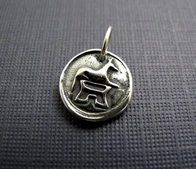 anubis german shepherd dog charm sterling silver beth hemmila hint jewelry