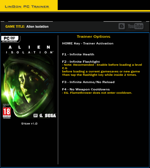 Alien Isolation trainer games
