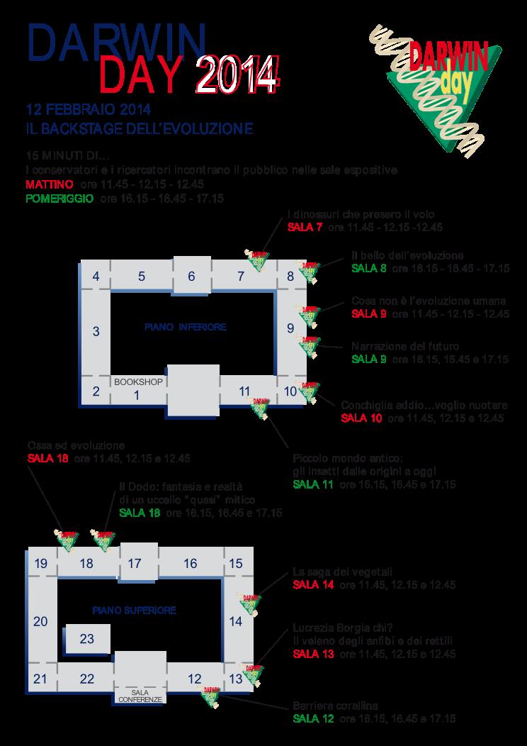 locandina eventi a Milano per il Darwin Day 2014