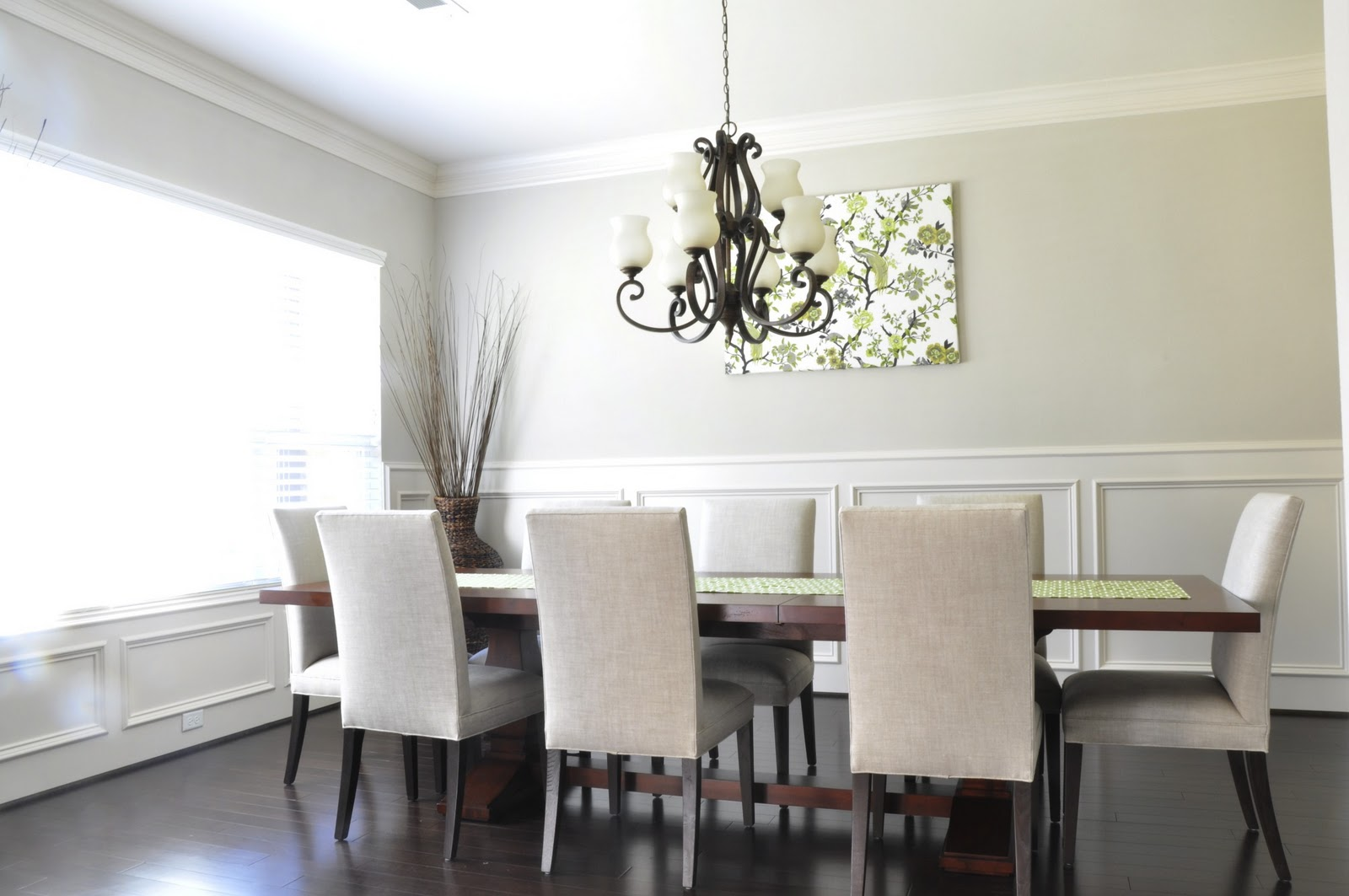 dining room progress drapes mirror honey we 39 re home. Black Bedroom Furniture Sets. Home Design Ideas