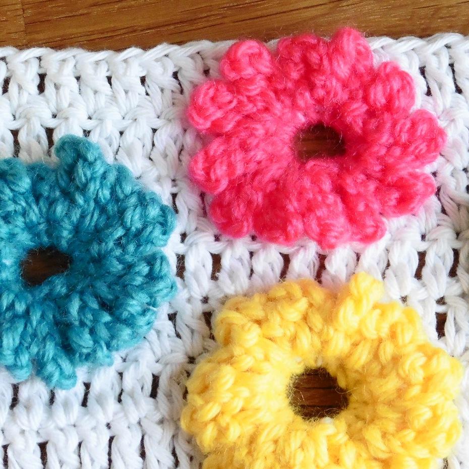 margaritas flores crochet ganchillo tejido