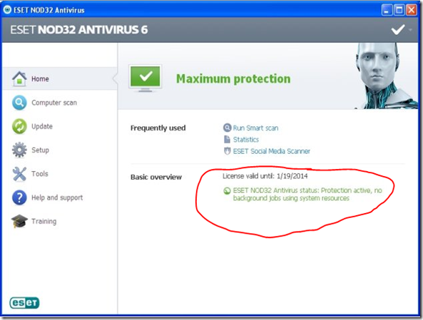 license eset antivirus 9