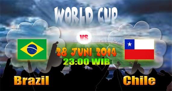 Prediksi Brazil vs Chile Babak 16 besar Piala Dunia 2014
