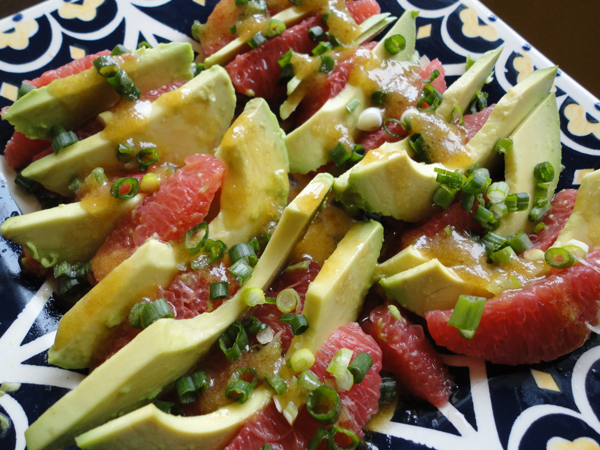 QUATRE GATS VEGAN KITCHEN: Avocado Grapefruit Salad