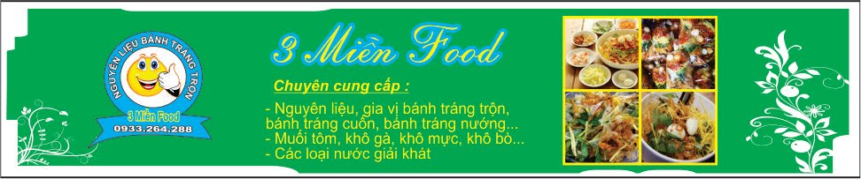 Nguyên Liệu Bánh Tráng Trôn - 3 Miền Food