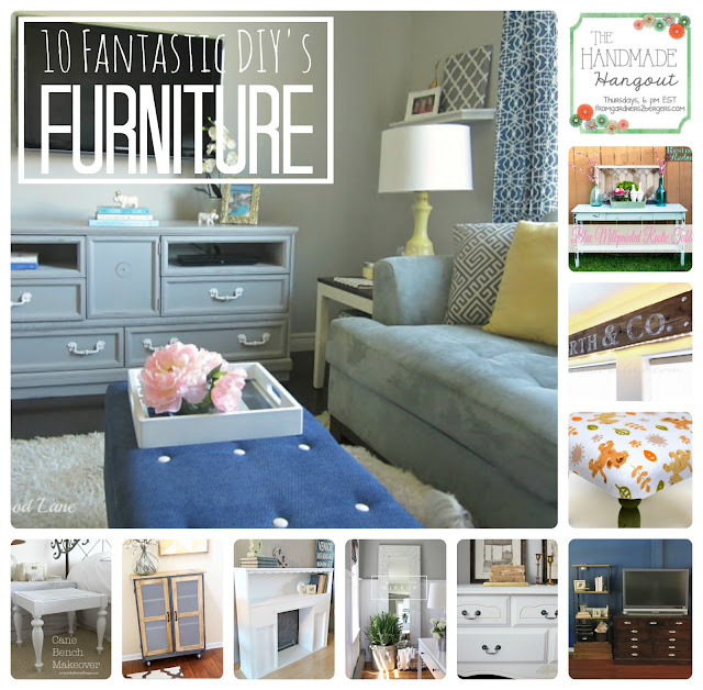 10 Fantastic Furniture DIY Projects! via #fg2b blog and #TheHandmadeHangout