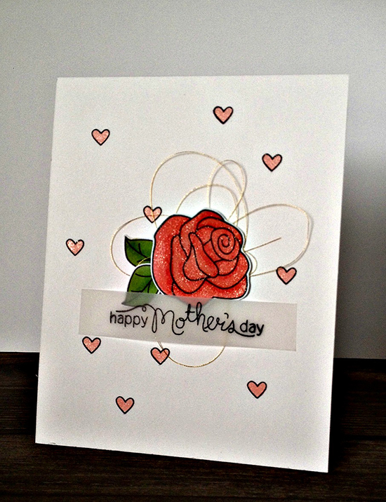Mother's Day Rose card by Jamie Greene for Newton's Nook Designs | Love Grows