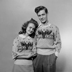 ive never understood the whole ugly christmas sweaters thing personally i think seasonal dressing is great fun i love seeing vintage images of people - Vintage Christmas Sweater