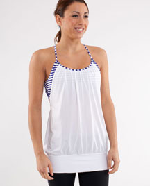 lululemon pigment blue stripe no limit yoga tank