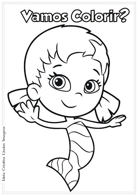 Bubble Guppies Dona desenho para colorir