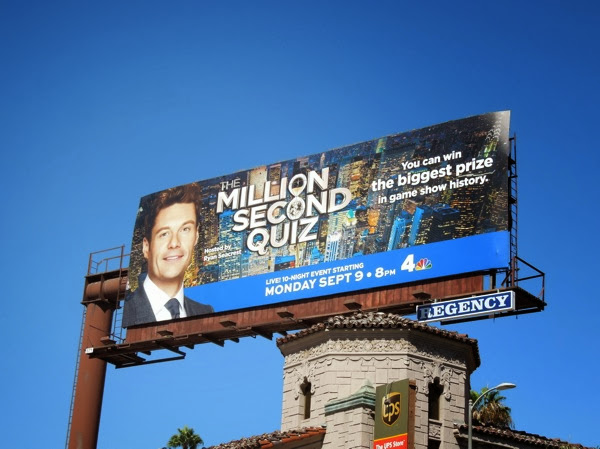 Million Second Quiz billboard