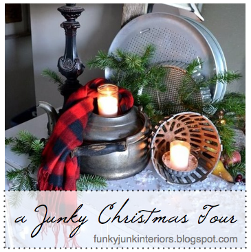 2011 Christmas Junk full Hometour via Funky Junk Interiors