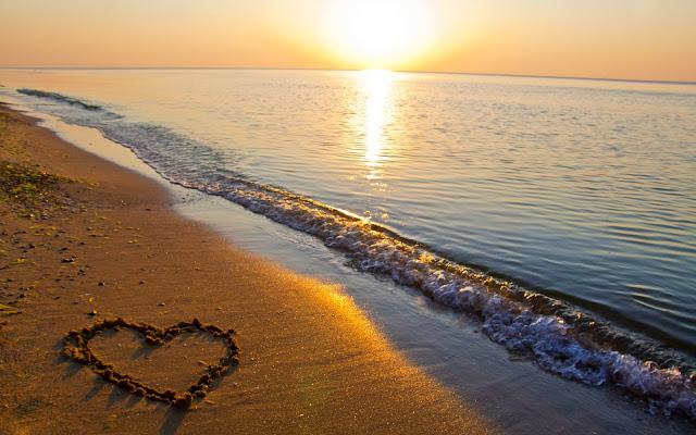 Corazon en la arena Imagen para Enamorados