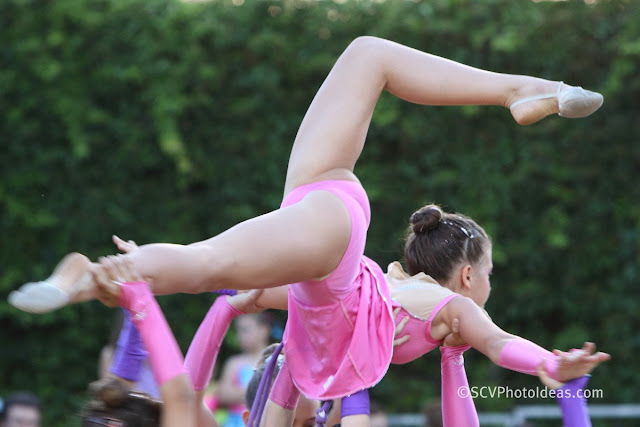Rhythmic Gymnastics on the air