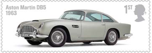 Aston Martin DB5 stamp.