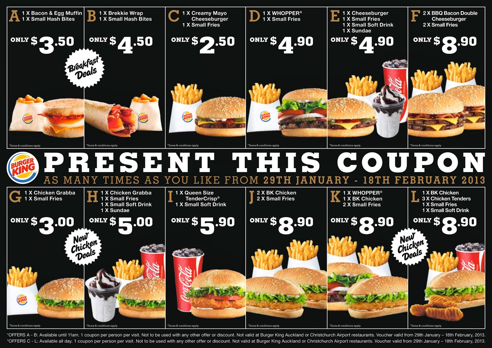 Burger king discount coupons