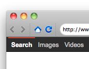 Mozilla Prism: Navigation bar