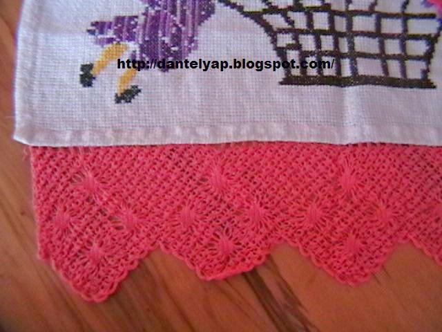 dantel,havlu kenarı