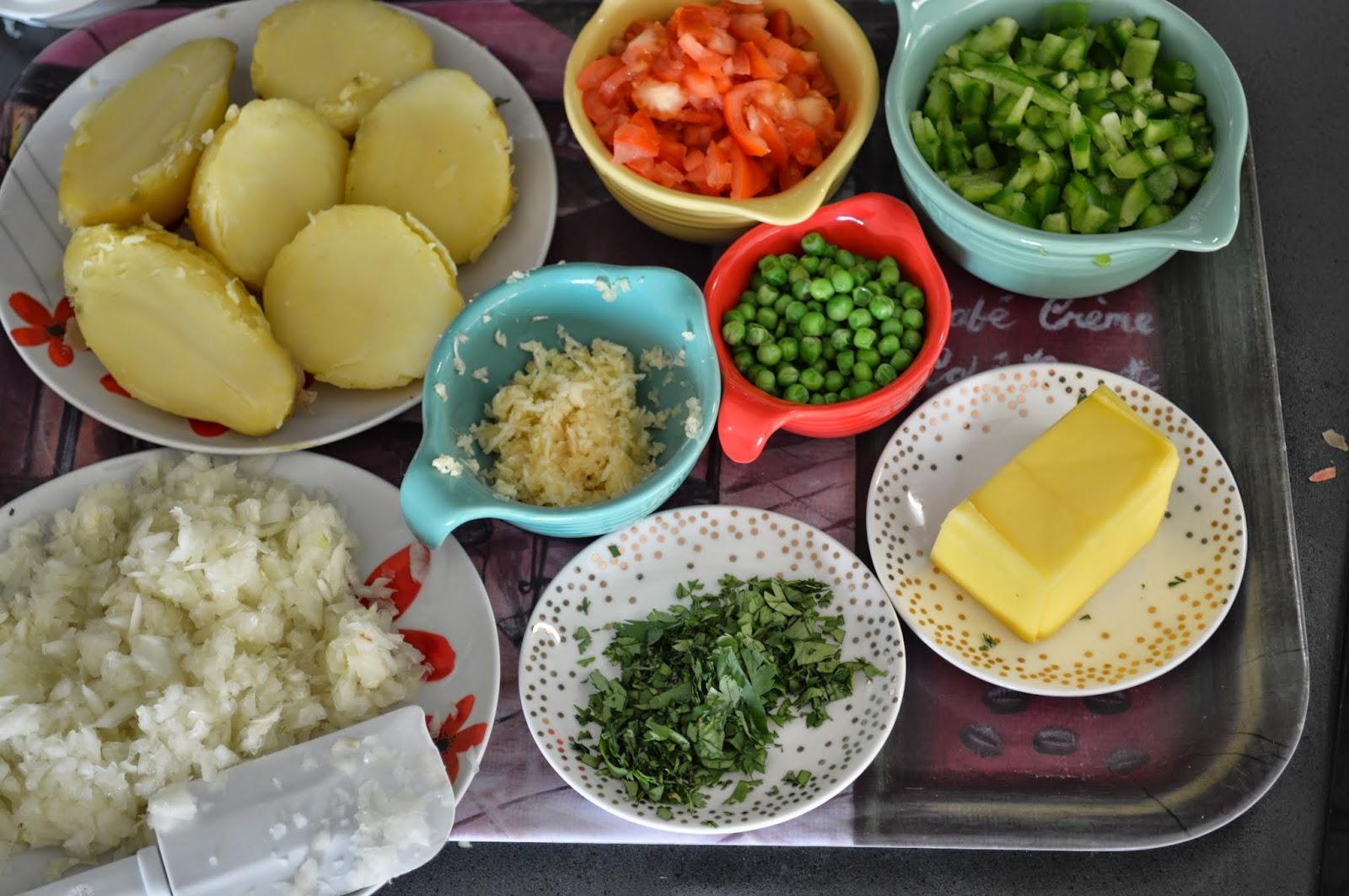 Ingredients for authentic pav bhaji