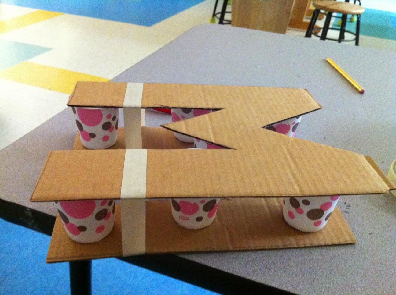 Как сделать плоские буквы из картона