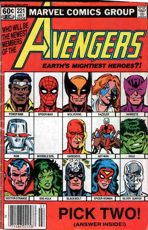 Ben Temples Covers Avengers 221