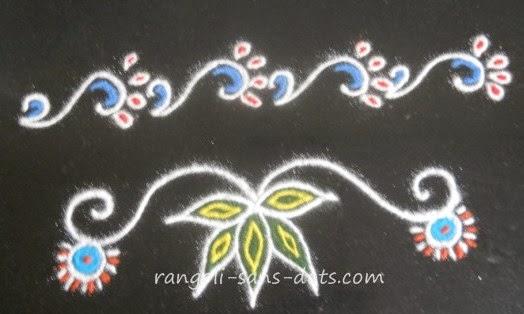 border / side rangoli designs / muggulu borders / border muggulu for ...
