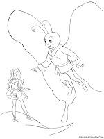 Halaman Mewarnai Gambar Barbie Fairytopia