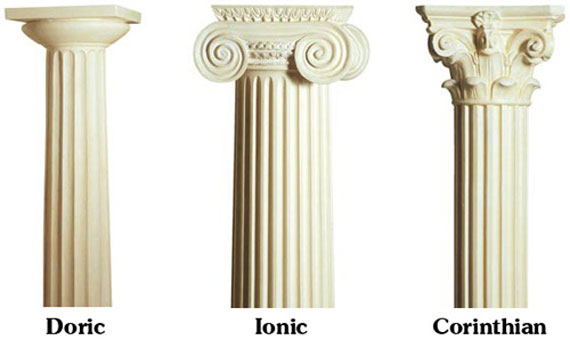 Types Of Roman Columns : Greek architecture doric ionic and corinthian columns