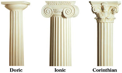 Greek Architecture Doric Ionic And Corinthian Columns College
