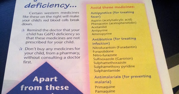 G6pd medications to avoid
