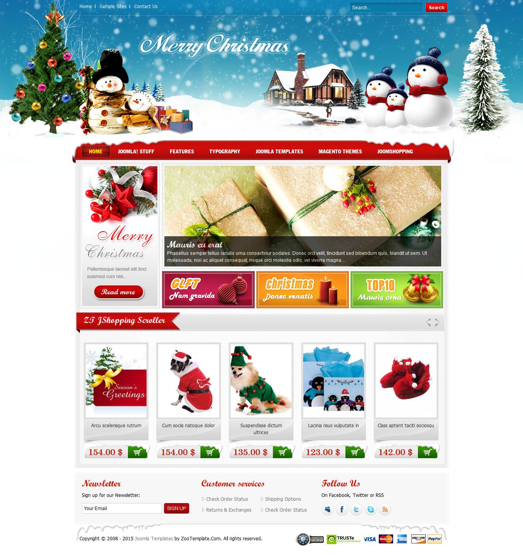 Share template ZT Merry Christmas - Joomla 1.5-1.7