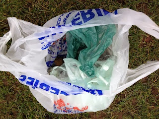 Dog mess collected from football pitches in Dawson Park