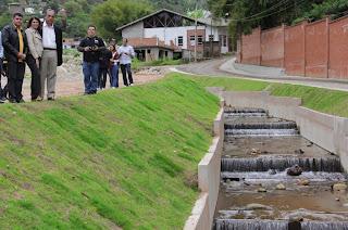 Canalização do Rio no Campo Grande Teresópolis RJ
