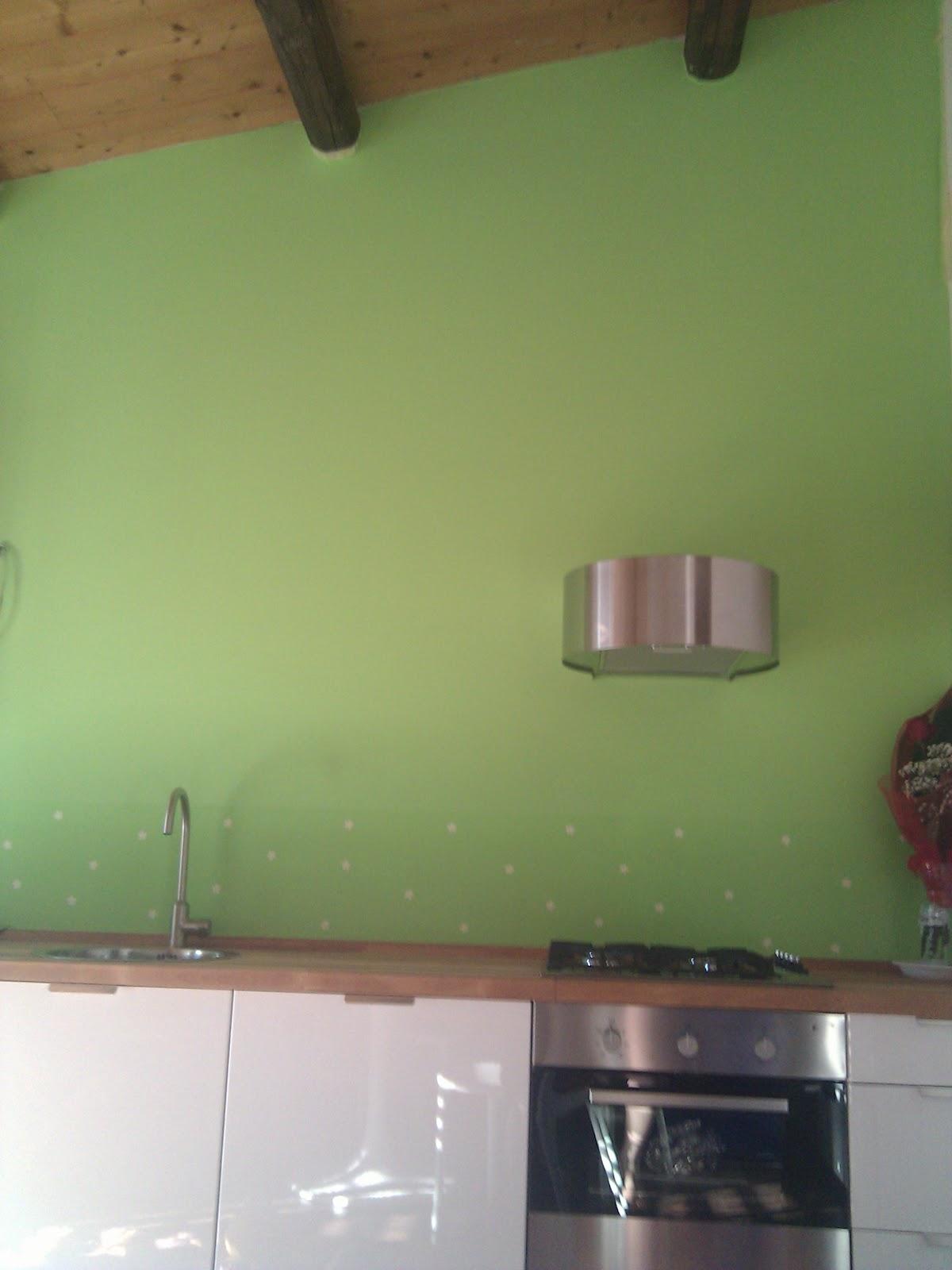 Magamonella la parete della cucina nuova - Bagno verde mela ...