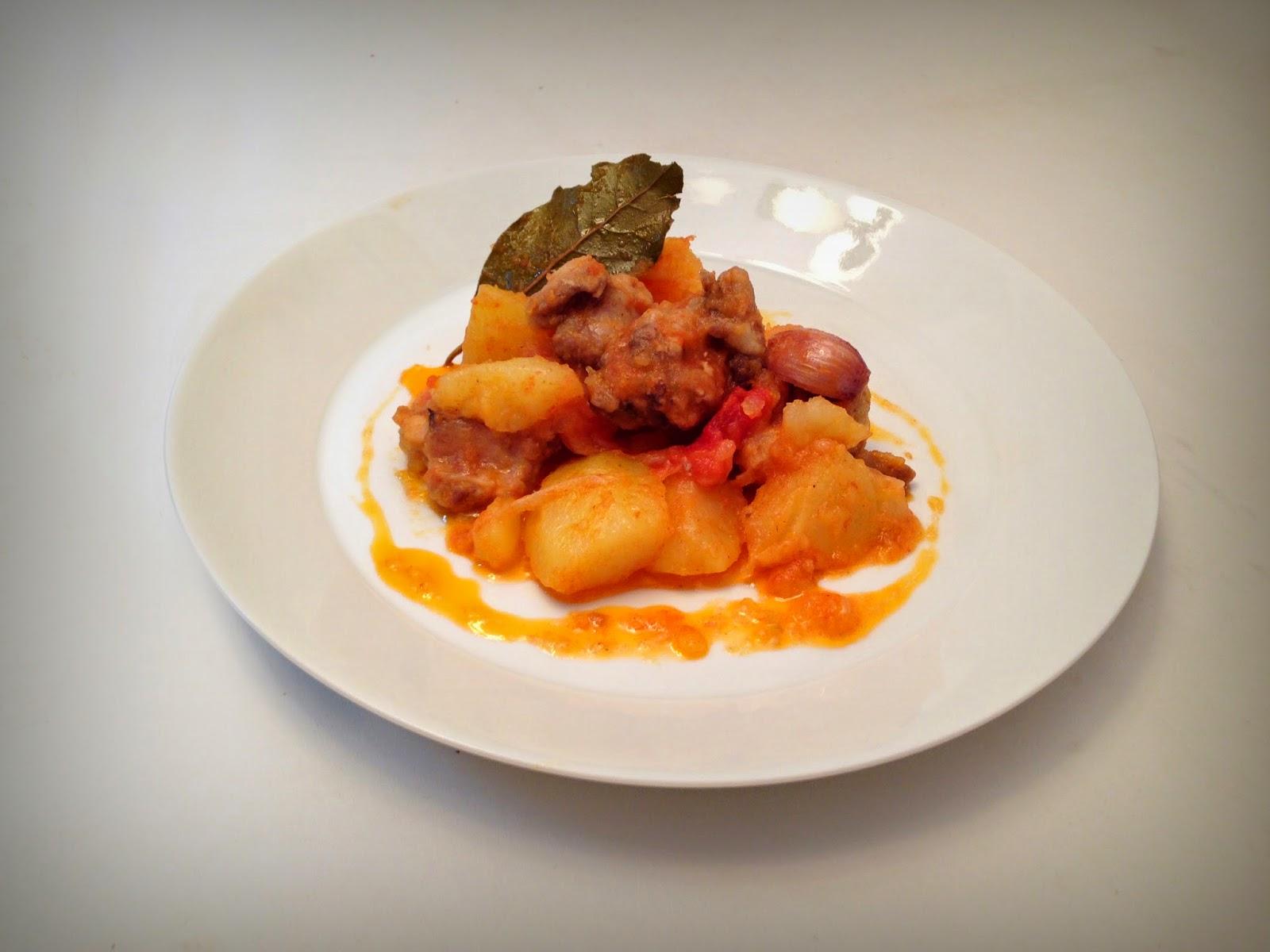Miblogentrerecetas estofado de patatas con costilla de cerdo - Patatas con costillas de cerdo ...