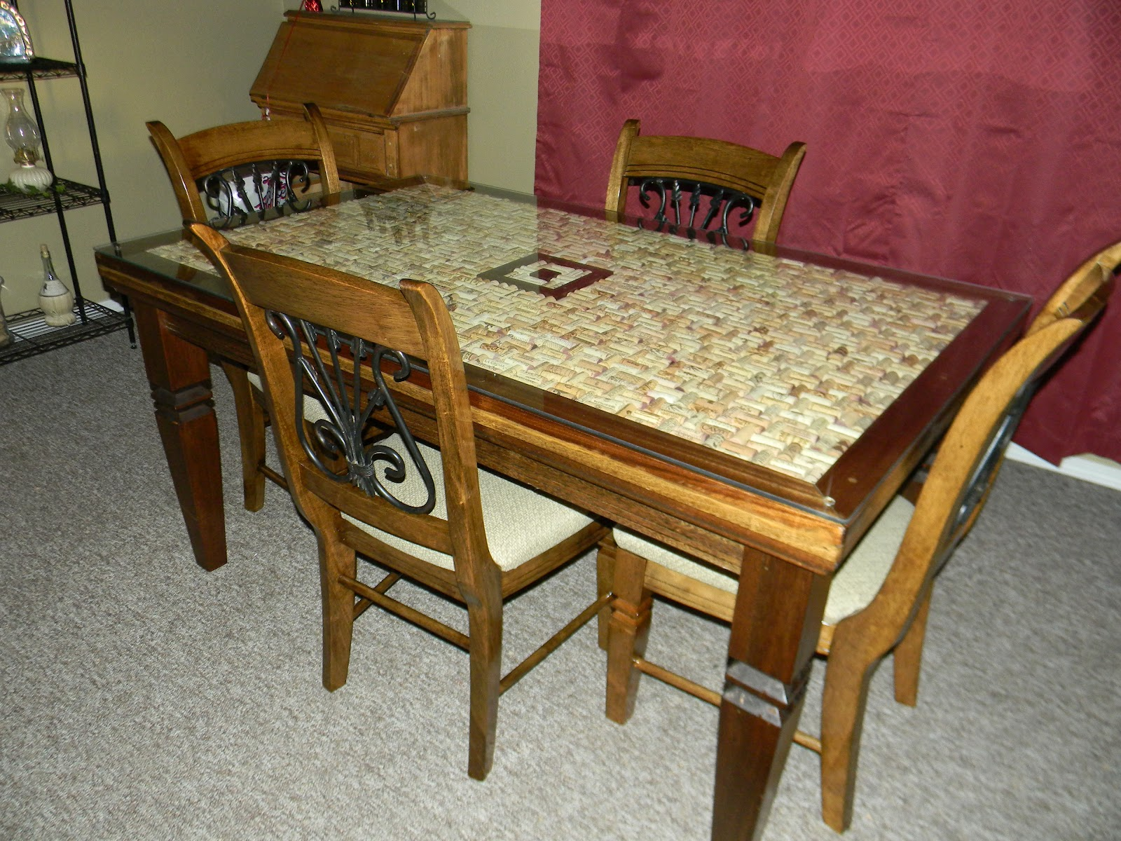 Wine Cork Table Top Table Designs