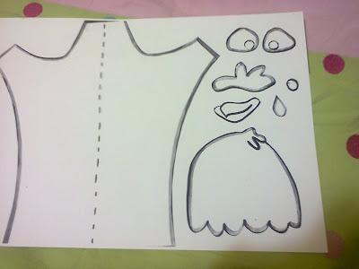 El arte de educar molde para hacer una marioneta de gallina - Como hacer marionetas de mano ...