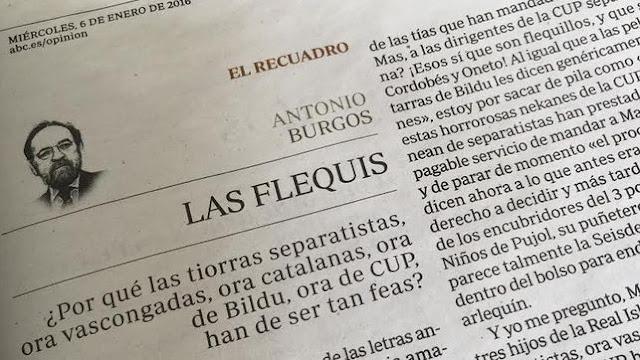 """Antonio Burgos (ABC) incendia twitter tras llamar """"tiorras feas"""" a las mujeres independentistas"""