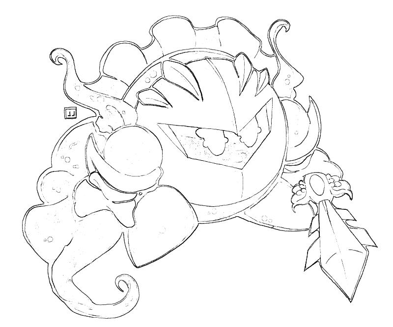 Meta Knight Armor Temtodasas Meta Coloring Pages