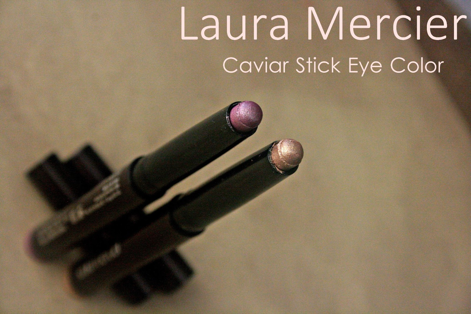 Laura Mercier Caviar Stick Eye Colors in Orchid & Sugar Frost